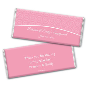 Engagement Party Favor Personalized Chocolate Bar Wrappers Sunburst Hearts Pattern