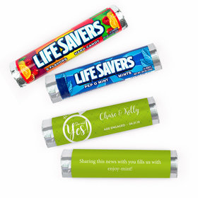 Personalized Engagement She Said Yes! Lifesavers Rolls (20 Rolls)