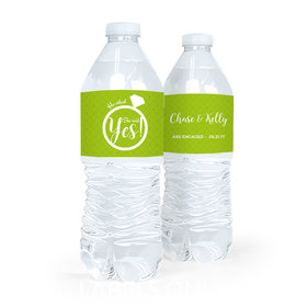 Personalized Engagement She Said Yes Water Bottle Sticker Labels (5 Labels)