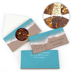 Personalized Engagement Seashore Love Gourmet Infused Belgian Chocolate Bars (3.5oz)