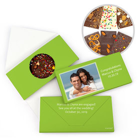 Personalized Engagement Simple Photo Gourmet Infused Belgian Chocolate Bars (3.5oz)