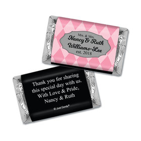 Personalized Lesbian Wedding Mrs. & Mrs. Regal Mini Wrappers Only