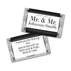 Personalized Gay Wedding To Have & to Hold Hershey's Miniatures