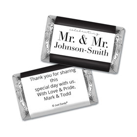 Personalized Gay Wedding To Have & to Hold Mini Wrappers Only