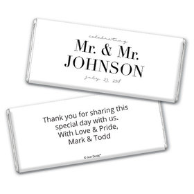 Personalized Gay Wedding To Have & to Hold Chocolate Bar & Wrapper