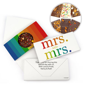 Personalized Wedding LGBT Lesbian Wedding Mrs. and Mrs. Rainbow Gourmet Infused Belgian Chocolate Bars (3.5oz)