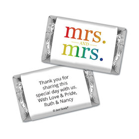 Personalized Lesbian Wedding Mrs. & Mrs. Rainbow Hershey's Miniatures