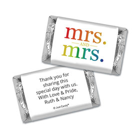 Personalized Lesbian Wedding Mrs. & Mrs. Rainbow Mini Wrappers Only