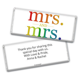 Personalized Lesbian Wedding Mrs. & Mrs. Rainbow Chocolate Bar Wrappers Only