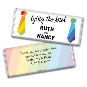 Personalized LGBT Wedding Tying the Knot Chocolate Bar & Wrapper