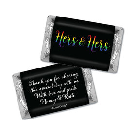 Personalized Lesbian Wedding Hers & Hers Rainbow Hershey's Miniatures