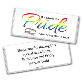 Personalized LGBT Wedding Love & Pride Chocolate Bar & Wrapper