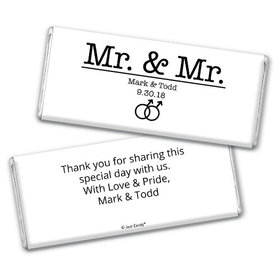 Personalized Gay Wedding Mr. & Mr. Chocolate Bar & Wrapper