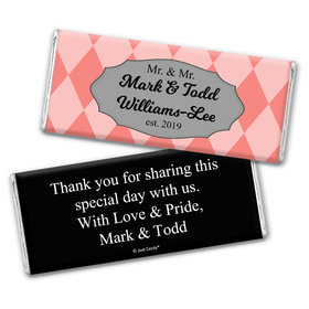Personalized Gay Wedding Mr. & Mr. Regal Chocolate Bar Wrappers Only