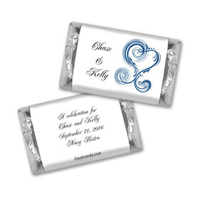 Rehearsal Dinner Personalized Hershey's Miniatures Swirled Hearts
