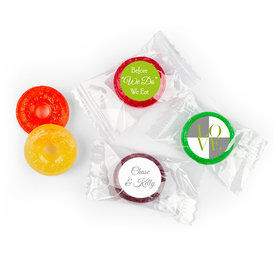 Rehearsal Dinner Personalized LifeSavers 5 Flavor Hard Candy Pop Art Love Square (300 Pack)