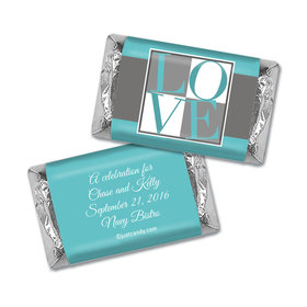 Rehearsal Dinner Personalized Hershey's Miniatures Wrappers Pop Art Love Square