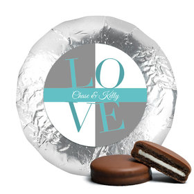 Rehearsal Dinner Chocolate Covered Oreos Pop Art Love Square (24 Pack)