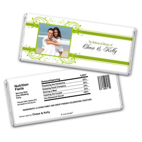 Rehearsal Dinner Personalized Chocolate Bar Wrappers Scroll Framed Photo