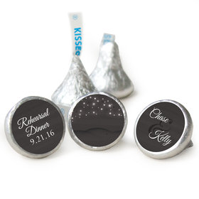 Rehearsal Dinner Personalized Hershey's Kisses Starry Sky Assembled Kisses (50 Pack)