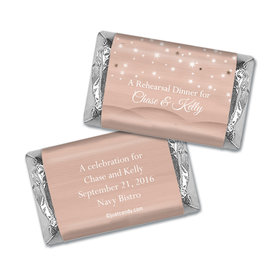 Rehearsal Dinner Personalized Hershey's Miniatures Wrappers Starry Sky