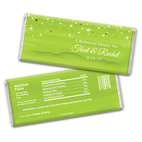 Rehearsal Dinner Personalized Chocolate Bar Wrappers Starry Sky