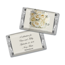 Wedding Rehearsal Dinner Personalized Hershey's Miniatures Wrappers White Bouquet