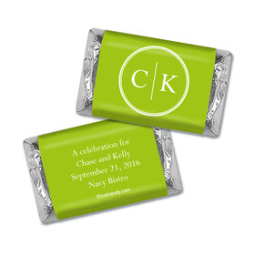 Rehearsal Dinner Personalized Hershey's Miniatures Wrappers Monograms