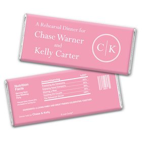 Rehearsal Dinner Personalized Chocolate Bar Wrappers Monograms