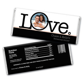 Rehearsal Dinner Personalized Chocolate Bar Wrappers Big Love Photo Cameo