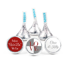 Personalized Rehearsal Dinner Love Hershey's Kisses (50 pack)