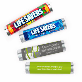 Personalized Rehearsal Dinner Love Pop Art Lifesavers Rolls (20 Rolls)