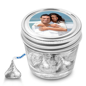 Rehearsal Dinner Personalized Small Mason Jar Full Photo (12 Pack)
