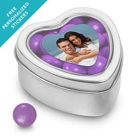 Rehearsal Dinner Personalized Small Heart Tin Full Photo (25 Pack)