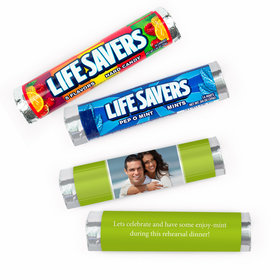 Personalized Rehearsal Dinner Snapshot Lifesavers Rolls (20 Rolls)