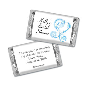Bridal Shower Favor Personalized Hershey's Miniatures Wrappers Swirled Hearts