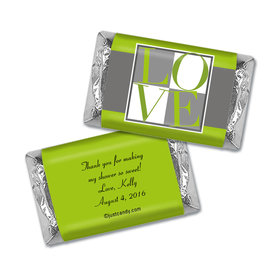 Bridal Shower Favor Personalized Hershey's Miniatures Wrappers Pop Art Square Love