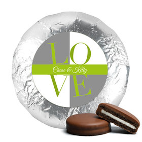 Bridal Shower Favor Chocolate Covered Oreos Pop Art Square Love (24 Pack)