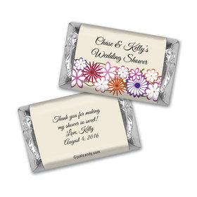 Bridal Shower Favor Personalized Hershey's Miniatures Colorful Flowers