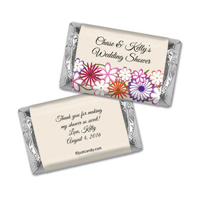 Bridal Shower Favor Personalized Hershey's Miniatures Wrappers Colorful Flowers
