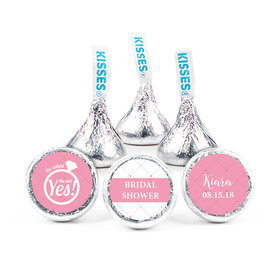 """Bridal Shower Favor 3/4"""" Sticker She Said Yes! Ring (108 Stickers)"""