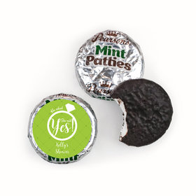 Bridal Shower Favor Personalized Pearson's Mint Patties She Said Yes! Ring
