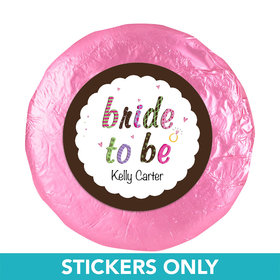 "Personalized Bridal Shower Favors 1.25"" Stickers (48 Stickers)"