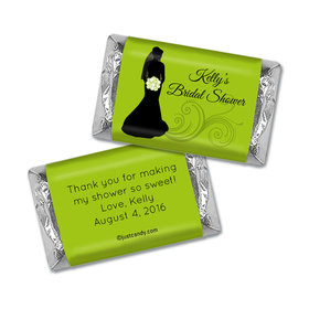 Bridal Shower Favor Personalized Hershey's Miniatures Wrappers Bride Silhouette