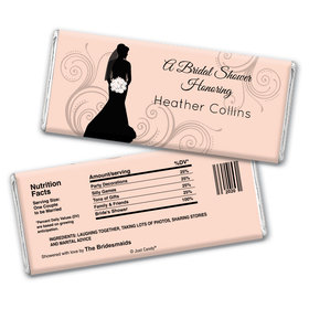 Bridal Shower Favor Personalized Chocolate Bar Wrappers Bride Silhouette