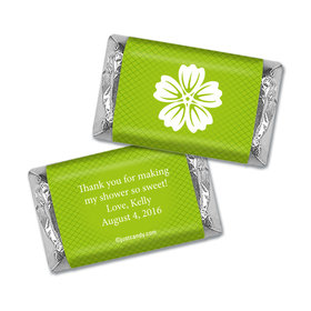 Bridal Shower Favor Personalized Hershey's Miniatures Wrappers Flower Border