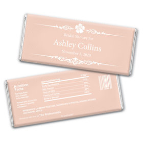 Bridal Shower Favor Personalized Chocolate Bar Wrappers Flower Border