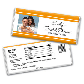 Bridal Shower Favor Personalized Chocolate Bar Wrappers Classic Border Photo