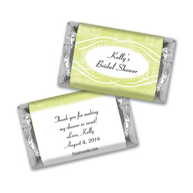 Bridal Shower Favor Personalized Hershey's Miniatures Winter Snow Squiggle