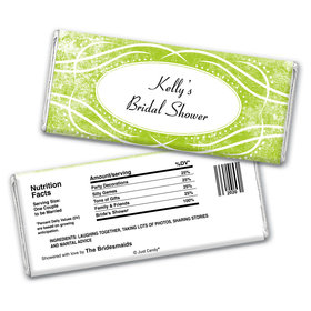 Bridal Shower Favor Personalized Chocolate Bar Wrappers Winter Snow Squiggle